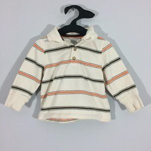 Old Navy Baby 18-24M Striped Long Sleeve Polo